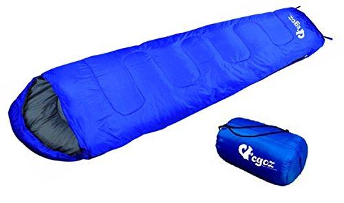 Almond da EGOZ Facile da trasportare mummia Sacco a pelo caldo adulto all'aperto sportivo campeggio Escursioni con Carry Bag (Blue)