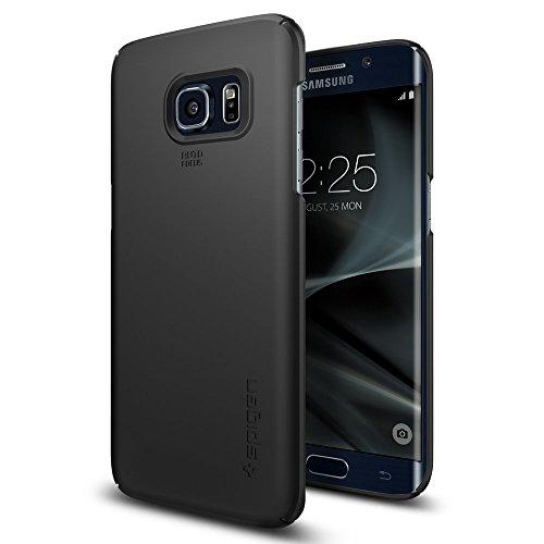 【Spigen】 Galaxy S7 Edge ケース, シン・フィット [ パーフェクト フィット ] ギャラクシー S7 エッジ 用 カバー (Galaxy S7 Edge, ブラック)