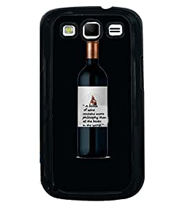 Printvisa Wine Bottle With A Philosophical Quote Back Case Cover for Samsung Galaxy S3 Neo::Samsung Galaxy S3 Neo i9300i