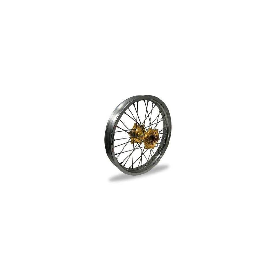 Pro Wheel MX Rear Wheel Set 19x2.15 Silver Rim/Gold Hub Silver