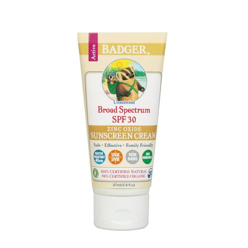 Badger Certified Natural Sunscreen , Spf 34 , Unscented 2.9