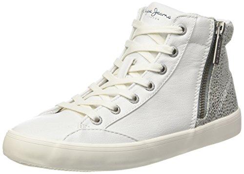 Pepe JeansClinton Break - Scarpe da Ginnastica Basse Donna , Bianco (Blanc (800White)), 41