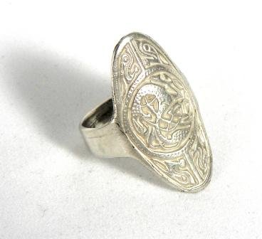 Historic Jewellery Reproduction Sterling Silver - Anglo-Saxon ring - Unisex