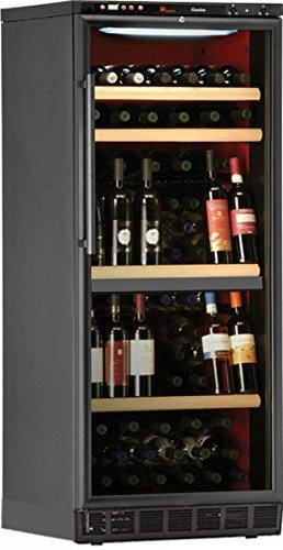 Cave à vin de service - 2 temp. - 140 bouteilles - Noir - CALICE - ACI-CAL609 - Encastrable