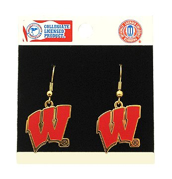 University Of Wisconsin Earrings Stainless Steel