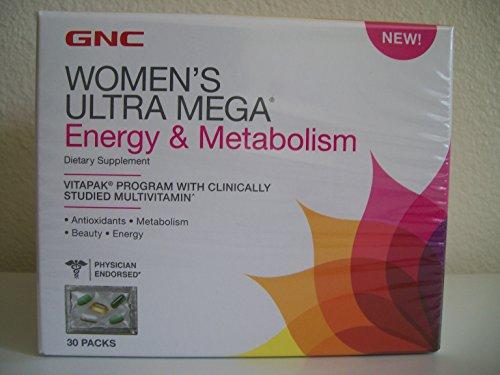 GNC Womens Ultra Mega Energy & Metabolism Vitapak Program - New Formula (Gnc Ultra Mega Energy Women compare prices)