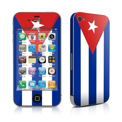 Apple iPhone4/iPhone4S用 スキンシール【Cuban Flag】