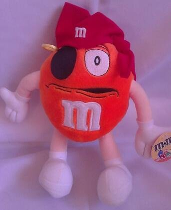 M&M Orange Pirate Plush 8 Inch - 1
