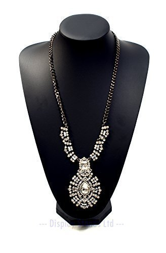 extra-large-black-leatherette-necklace-display-bust-35cm-tall-g413bl