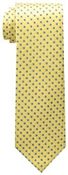 Tommy Hilfiger Men\'s Core Neat I Tie, Yellow, One Size