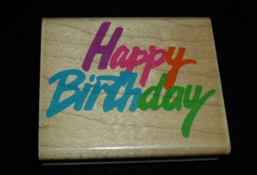 Happy Birthday Rubber Stamp - 1