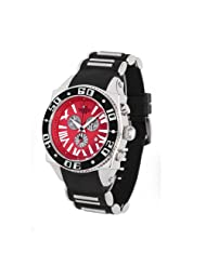 Aquaswiss Chronograph Swiss Quartz Large 50 MM Watch Red Dial Stainless Steel Black Bezel Day Date #62XG0139