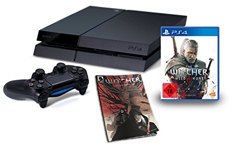 PlayStation 4 - Konsole inkl. The Witcher 3: Wild Hunt +  The Witcher Killing Monsters (Comicbuch)