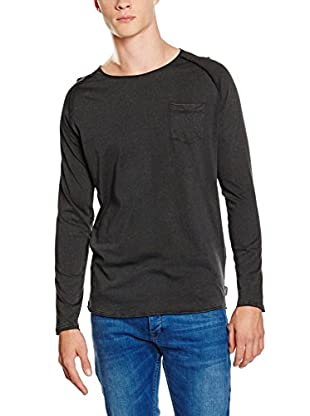 JACK & JONES Camiseta Manga Larga (Negro)