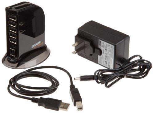 AmazonBasics 7 Port USB 2.0 Hub with 5V/4A Power Adapter ...