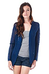 [The Classic Brand] Navy Over-Sized Anchor Cardigan Small