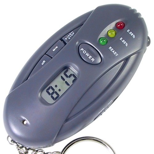 SODIAL (R)LCD ALCOTEST ALCOHOL ALCOTEST CHRONOMETRE LED LAMPE TESTER