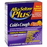 BAYER CORPORATION ALKA SELTZER PLUS COLD/COUGH 20Tablets