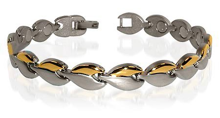 Surgical Stainless Steel Magnetic Golf Bracelet 7.75 ""
