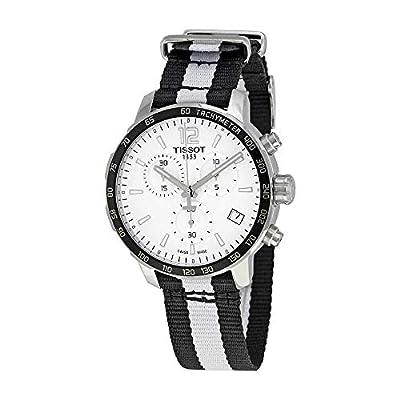ティソQuickster Nba Brooklyn Netsクロノグラフメンズ腕時計t0954171703711