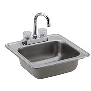 Elkay DP211515C Dayton Kitchen Sink Satin Stainless Steel Top Mount ...