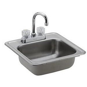 Dayton Sinks : Elkay DP211515C Dayton Kitchen Sink Satin Stainless Steel Top Mount ...