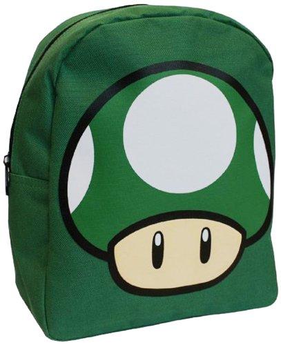 Nintendo Super Mario Bros Zaino Asilo Fungo UP Verde