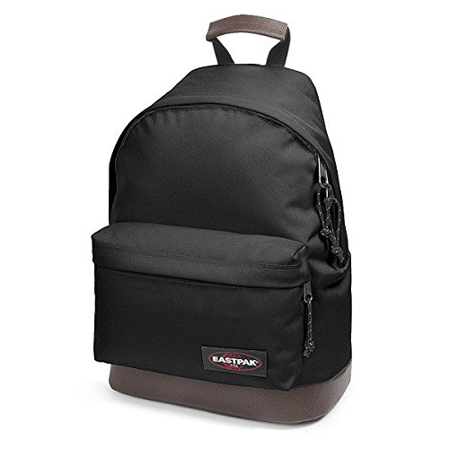 Eastpak Wyoming Zaino 40 Centimetri Con Fondo In Cuoio, schwarz (Basic)