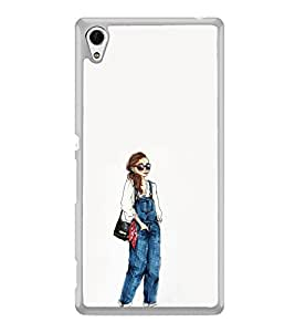 ifasho Girl in jeans Back Case Cover for Sony Xperia Z4