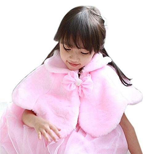 Spritech(TM) Baby Girls Winter Bridesmaid Ball Gown Party Tutu Dress Wool Shawls Pink M (Party Ware Gowns compare prices)