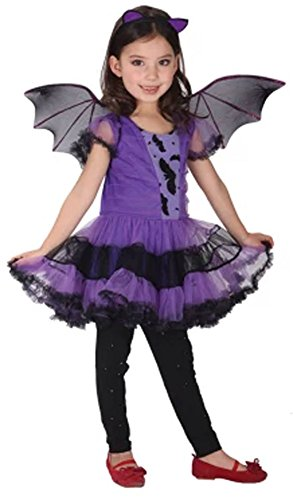Eyekepper Batgirl/Batman Purple Girls Tutu Costume Dress