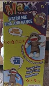Maxx The Sock Monkey Watch Me Sing And Dance
