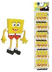 Penn Plax Spongebob Vinyl and Rope On Mesh Display Dog Chew Toy