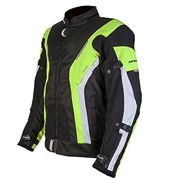 Nouveau Spada moto Textile veste courbe étanche Blk/Fluo/blanc