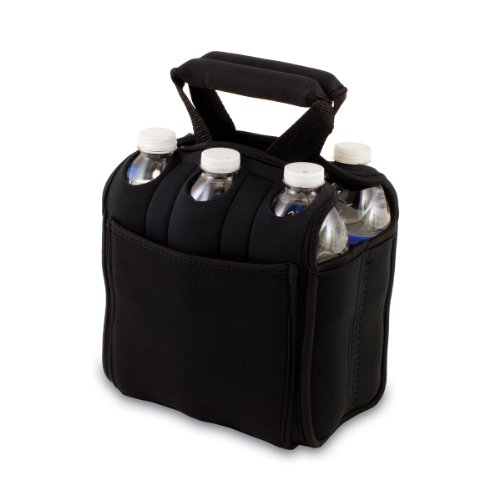 picnic-time-six-pack-insulated-beverage-tote-black
