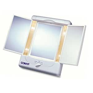 Amazon Com Conair Home Vanity Collection 3 Panel Lighted