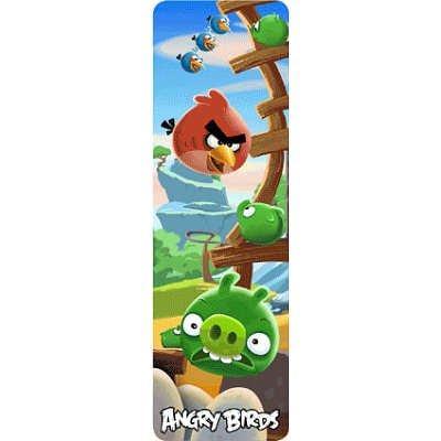 (2X6) Angry Birds 3-D Lenticular Bookmark