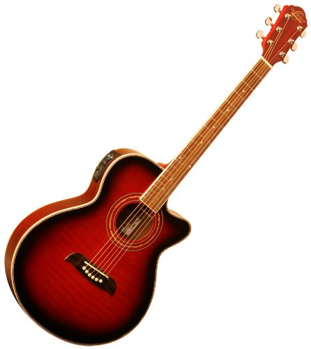 New Oscar Schmidt Concert Cutaway Og10Ceftr Acoustic Electric Guitar