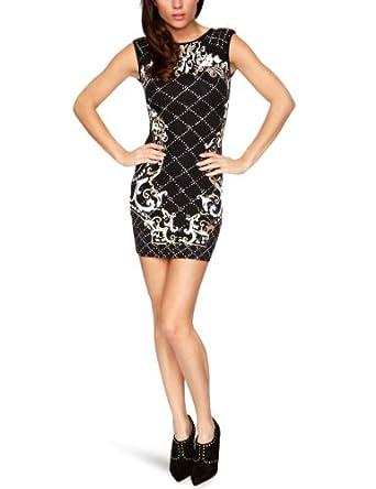 Lipsy JD01903 Sleeveless Women's Dress Black Size 12