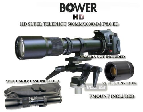 Bower 500mm/1000mm Telephoto Lens for Nikon D7000 D7100 D5200 D5000 D5100 D90 D80 D70 D60 D40 D40X D3S D300S D3000 D3200 D5200 D3X (500 1000 Lens compare prices)