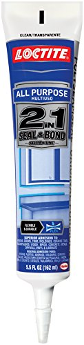 Loctite 2in1 Seal and Bond Clear All Purpose Sealant 5.5-Fluid Ounce Squeeze Tube (1937108)