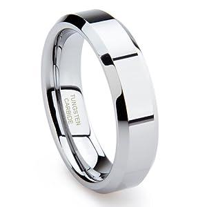 Tungsten Carbide Men's Wedding Band Ring Sz 7.0