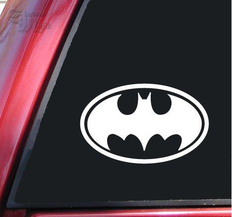 Batman Bat Symbol Vinyl Decal Sticker - White from ShadowMajik Enterprises