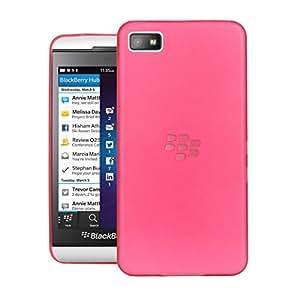 Blackberry Z10 Case, Translucent Slim Jacket Matte Slim Fit Protection Back Cover For Blackberry Z10 (Red)