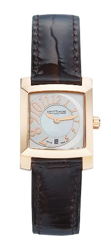 Saint Honore Women's 731027 8YBBR Orsay Square Rose Gold PVD Mother-Of-Pearl Watch