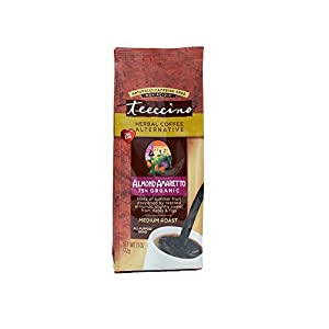 Teeccino Almond Amaretto Herbal Coffee Alternative, Caffeine Free, Acid Free, 11oz (Pack of 3)