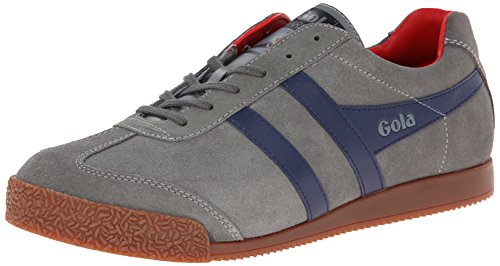 Gola - Sneaker Harrier, Uomo, Grigio (Grey/Navy/Red), 44 (10 uk)