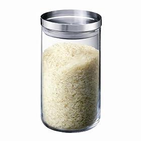 BODUM Yohki Glass Storage Jar Medium - Stainless Steel Lid, 1.0 l, 34-Ounce