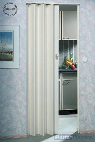 Marley Lockable Concertina Folding Door Plain White 83cm Max Door Opening