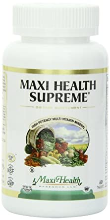 buy Maxi Health Supreme - High Potency Multivitamin & Mineral Supplement - 60 Tablets - Kosher